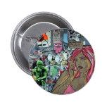 Graffiti, Berlin, Germany Pinback Buttons