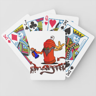 Graffiti Bicycle Playing Cards