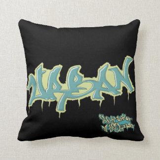 GRAFFITI blue/black urban mojo pillow