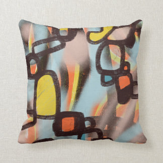 Graffiti Bold Abstract Modern Art Pillows