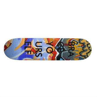 graffiti BRACE YOURSELF Skate Board