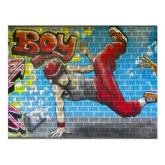 Graffiti Break Urban Street Art Postcard