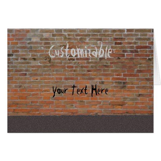 Graffiti Brick Wall Customisable Card