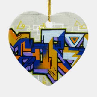 Graffiti Ceramic Heart Decoration