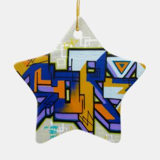 Graffiti Ceramic Star Decoration