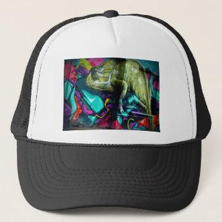 Graffiti Chameleon Trucker Hat