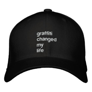 Graffiti Changed My Life Embroidered Baseball Caps