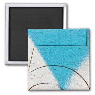 Graffiti close-ups square magnet