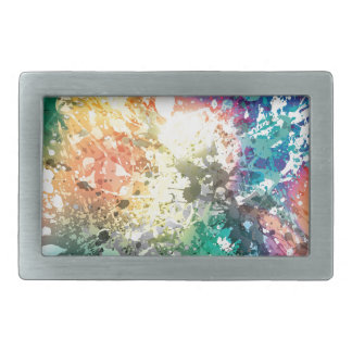 Graffiti Colour Paint Splash Rectangular Belt Buckles