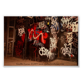 Graffiti Corner Poster