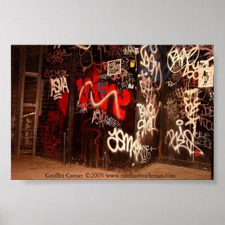 Graffiti Corner Print