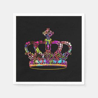 Graffiti crown paper napkins