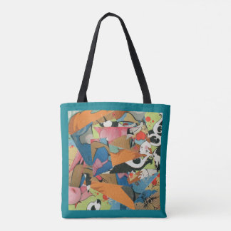 Graffiti cubist style tote bag