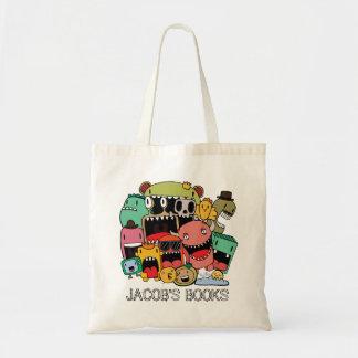 Graffiti Doodle Characters Library Book Bag