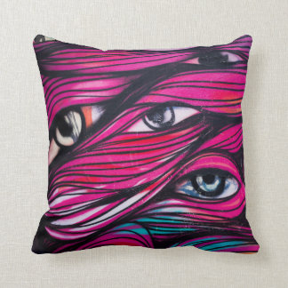 Graffiti Eye Urban Street Art Cushion