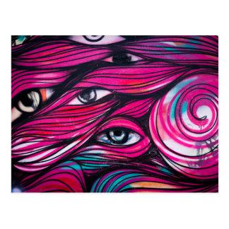 Graffiti Eye Urban Street Art Postcard