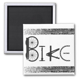 Graffiti from Bike Parts with Tire Tracks Square Magnet