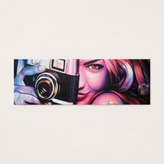 Graffiti Girl Photographer Mini Business Card