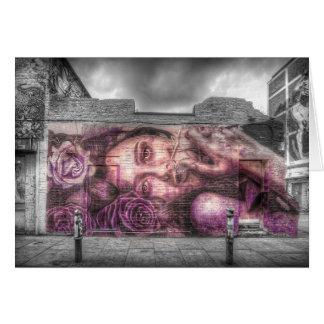 Graffiti Girl, Shoreditch London Card