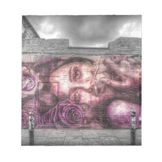 Graffiti Girl, Shoreditch London Notepad