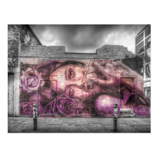 Graffiti Girl, Shoreditch London Postcard