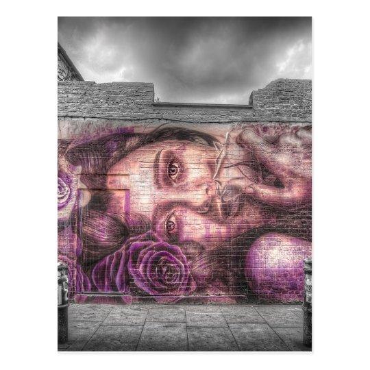 Graffiti Girl, Shoreditch London Postcard