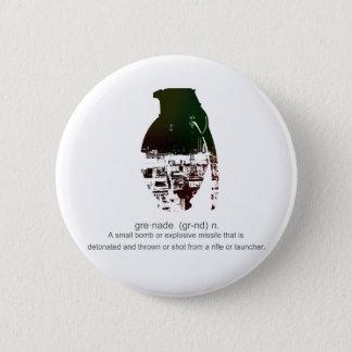 Graffiti Grenade 6 Cm Round Badge