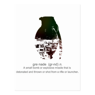 Graffiti Grenade Postcard