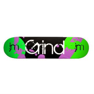 Graffiti Grind Monogram Skateboard Purple Green