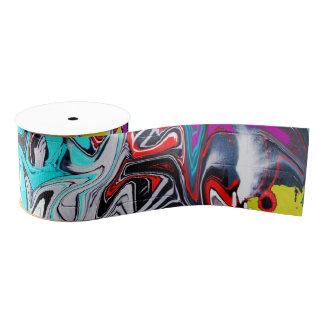 Graffiti Grosgrain Ribbon