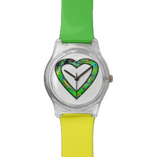 Graffiti Heart (green) Watch