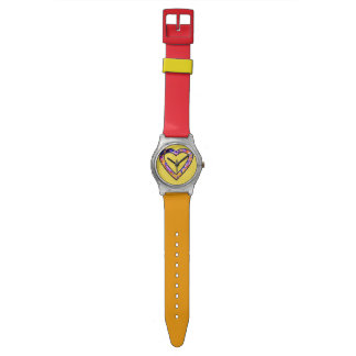 Graffiti Heart (yellow) Watch