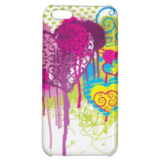 Graffiti Hearts iPhone 5C Cover