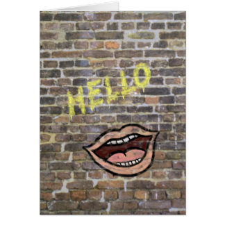 Graffiti-Hello Card
