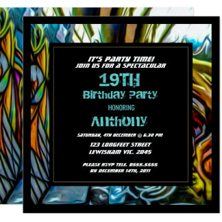 Graffiti Highway Birthday Invitation