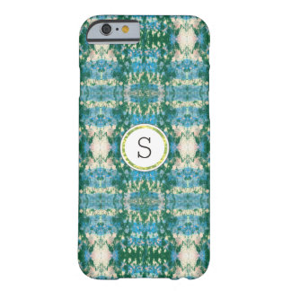 Graffiti Ikat | Blue and Green Monogram Barely There iPhone 6 Case