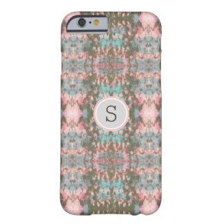 Graffiti Ikat | Pink and Grey Monogram Barely There iPhone 6 Case