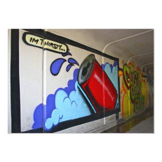 Graffiti in a subway I'm Thirsty Invitation