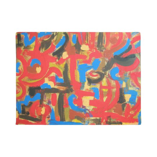 Graffiti In The Attic-Abstract Art Brushstrokes Doormat