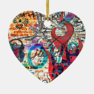 Graffiti Justice Ceramic Heart Decoration