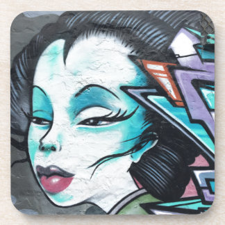 Graffiti lady coaster