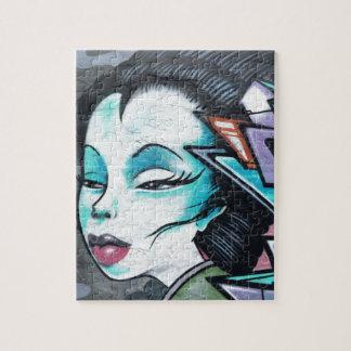 Graffiti lady jigsaw puzzle