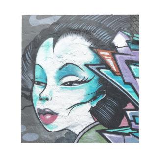 Graffiti lady notepad