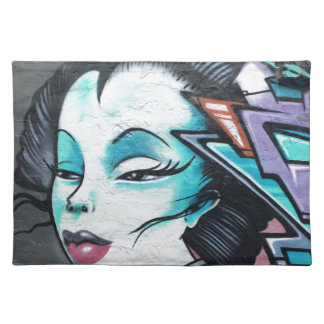 Graffiti lady placemat