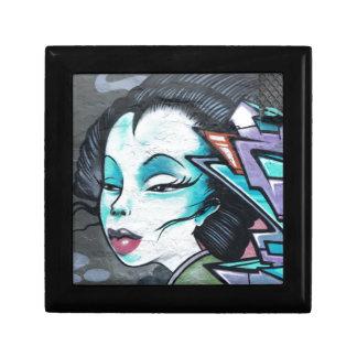Graffiti lady small square gift box