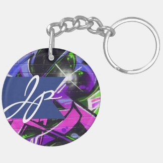 Graffiti Letters Monogram (double-sided) Keychain