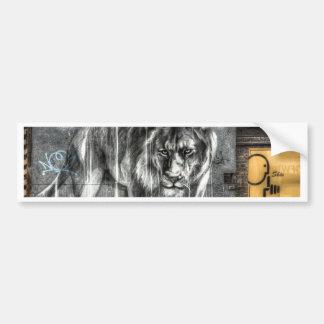Graffiti Lion, Shoreditch London Bumper Sticker