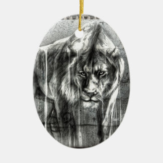 Graffiti Lion, Shoreditch London Christmas Ornament
