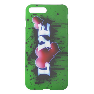 graffiti love hearts iPhone 7 plus case