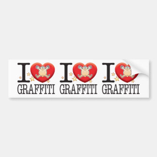Graffiti Love Man Bumper Sticker